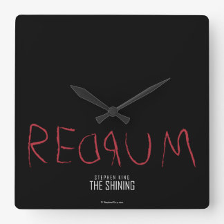 Redrum Square Wall Clock