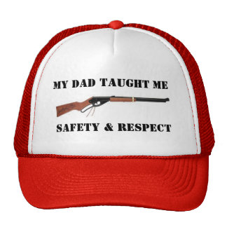 redryder-1, MY DAD TAUGHT ME, SAFETY & RESPECT Trucker Hat