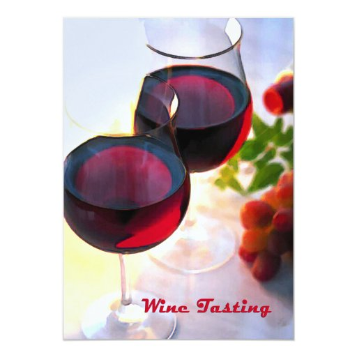 Reds at Afternoon Wine Tasting 5x7 Paper Invitation Card
