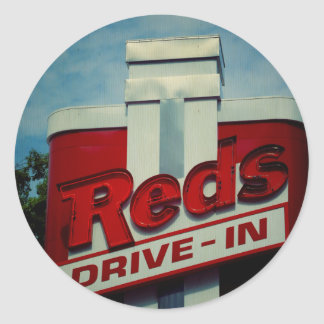Reds Drive In Classic Round Sticker