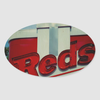 Reds Drive In Oval Sticker