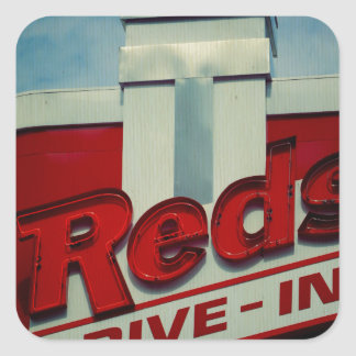 Reds Drive In Square Sticker