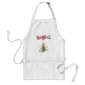 reds football soccer dog surprise treat adult apron