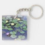 Red's Lily Pond Keychain Square Acrylic Keychain