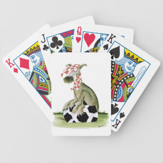 reds soccer dog happy supporter bicycle playing cards
