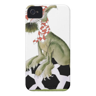 reds soccer dog happy supporter iPhone 4 Case-Mate case