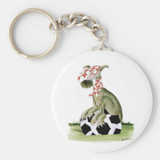 reds soccer dog happy supporter keychain