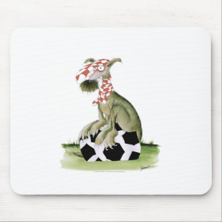 reds soccer dog happy supporter mouse pad