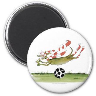 reds soccer dog magnet