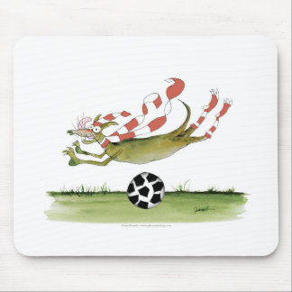 reds soccer dog mouse pad