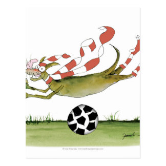 reds soccer dog postcard