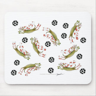reds soccer dogs mouse pad