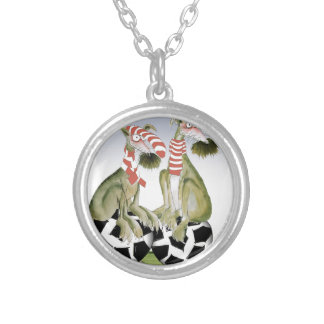 reds soccer dogs when saturday comes silver plated necklace