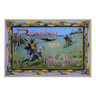 Redskin and Cowboy game 1897 Poster