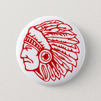 Redskin Red Indian Button