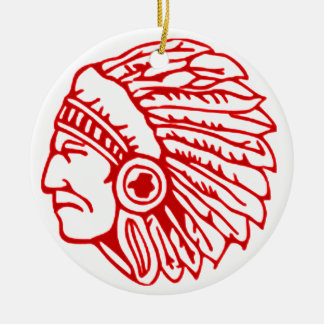 Redskin Red Indian Ceramic Ornament