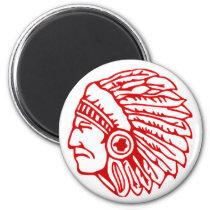 Redskin Red Indian Magnet