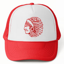 Redskin Red Indian Trucker Hat