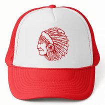 Redskin Red Indian Trucker Hat