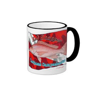 RedSnapper on Dive Flag Ringer Coffee Mug