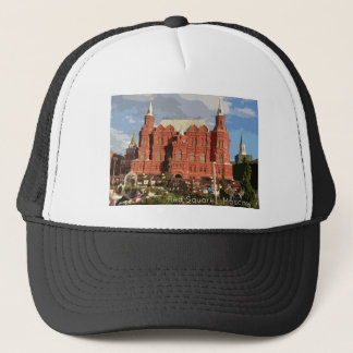 redsquare trucker hat