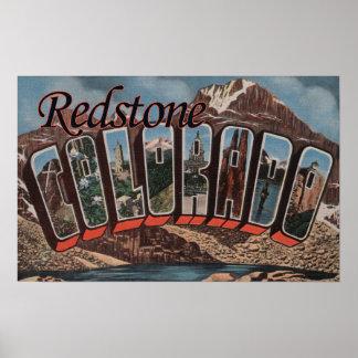 Redstone, Colorado - Large Letter Scenes Poster