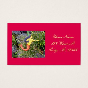 Beach Themed redtail sirena mermaid business card