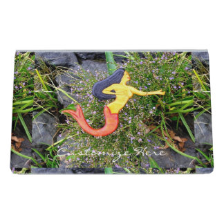 redtail sirena mermaid desk business card holder