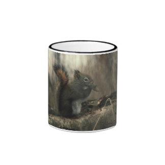 Redtail Squirrel 01 Ringer Mug