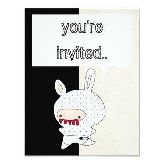 redteeth bunny invitation bicolor