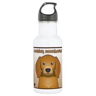 Redtick Coonhound Cartoon Heart Stainless Steel Water Bottle