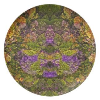 RedTones Floral Fantasy Plate