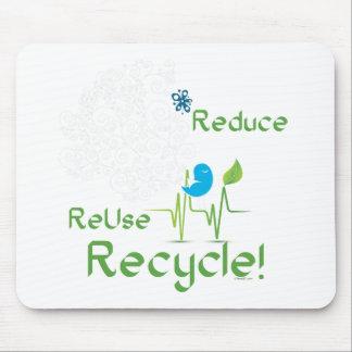 Reduce birdBLK Mouse Pad
