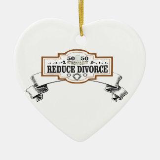 reduce divorce 50 50 custody ceramic ornament