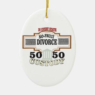 reduce divorces automatic 50 50 custody ceramic ornament