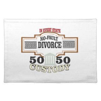 reduce divorces automatic 50 50 custody cloth placemat