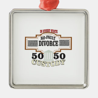 reduce divorces automatic 50 50 custody metal ornament