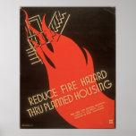 Reduce Fire Hazard Thru Planned Housing WPA Poster
