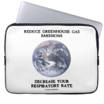 Reduce Greenhouse Gas Emissions Decrease (Humor) Computer Sleeves