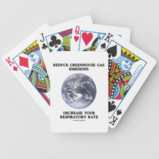 Reduce Greenhouse Gas Emissions Decrease (Humor) Playing Cards