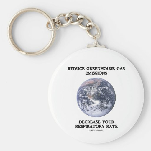 Reduce Greenhouse Gas Emissions (Humor) Basic Round Button Keychain