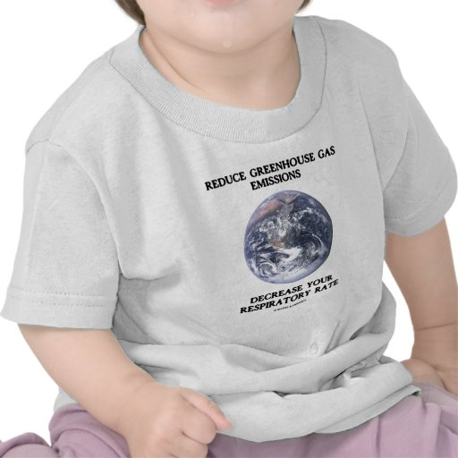 Reduce Greenhouse Gas Emissions (Humor) T Shirts