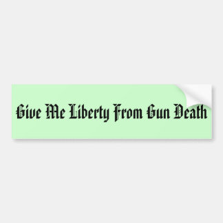 Reduce Gun Deaths Bumper Sticker