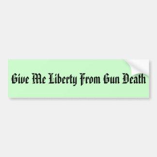 Reduce Gun Deaths Bumper Sticker