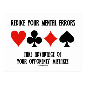 Reduce Mental Errors Take Advantage Opponents Postcard