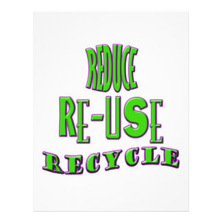 """Reduce Re-Use Recycle 8.5"""" X 11"""" Flyer"""