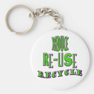Reduce Re-Use Recycle Keychain