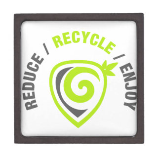 Reduce - Recycle - Enjoy Keepsake Box