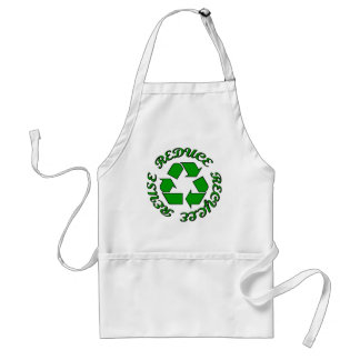 Reduce Recycle Reuse Adult Apron