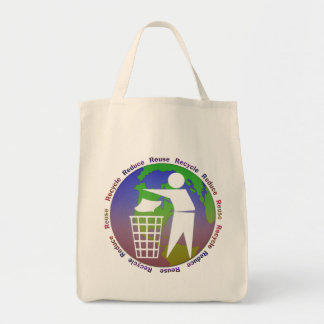 Reduce Recycle Reuse Grocery Tote